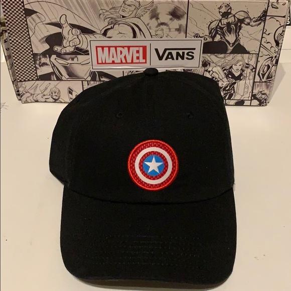 ba86fd6186f2f Vans x Marvel Captain America Shield Hat. NWT